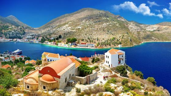 Panoramic view of Kastelorizo (Megisti) wallpaper