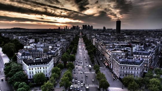 l'Arc de Triomphe street view wallpaper