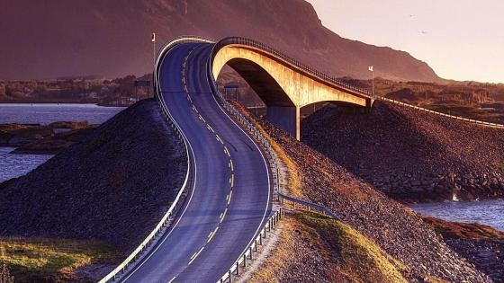 Storseisundet Bridge, Atlantic Road, Norway wallpaper