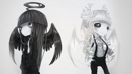 Angel demon reverse wallpaper
