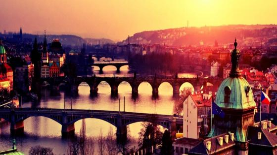 Prague cityscape - Czech Republic wallpaper