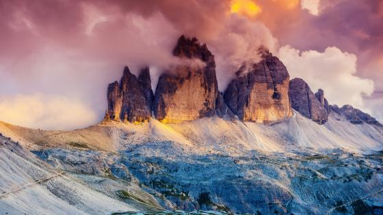 Three Peaks Dolomites, Italy wallpaper