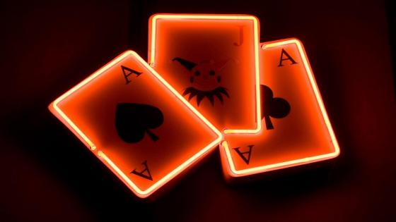 Neon Playing Card wallpaper