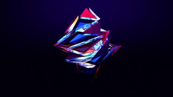 3D triangles wallpaper