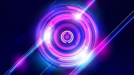 Purple circles digital art wallpaper