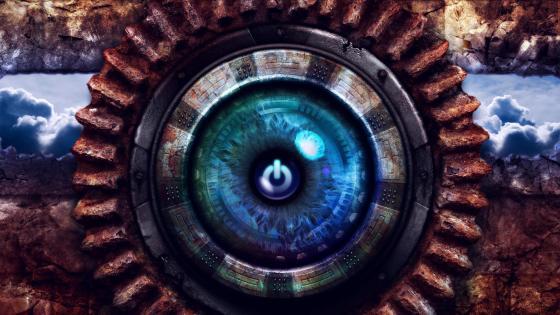 Power button digital art wallpaper