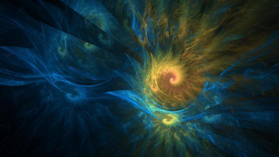 Golden spiral fractal wallpaper
