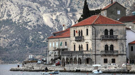 Perast in the Bay of Kotor in Montenegro wallpaper