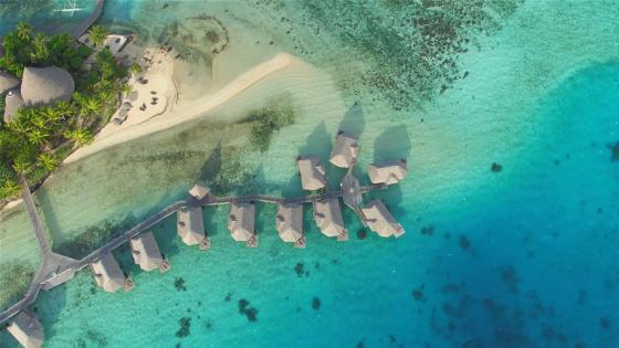 Bird's Eye view of Bora Bora wallpaper