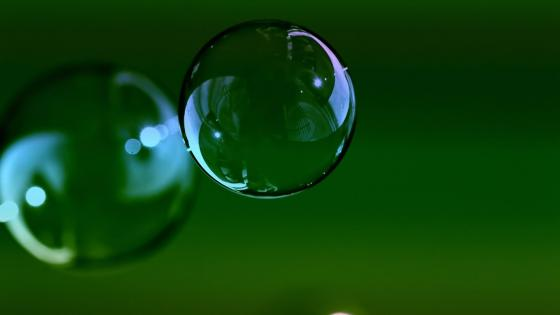3D Soap bubble wallpaper