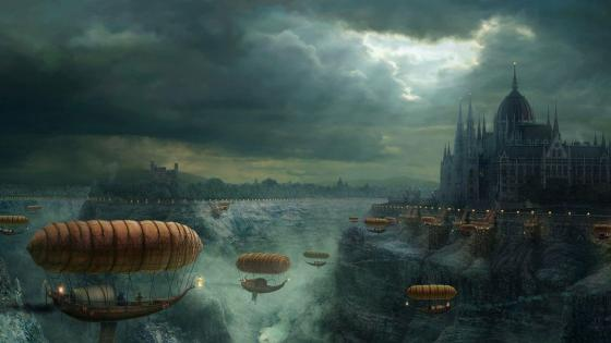 Steampunk artwork wallpaper