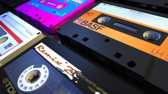 Music cassettes wallpaper
