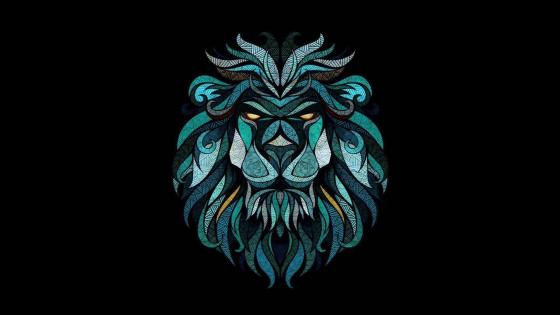 Crystal Lion wallpaper