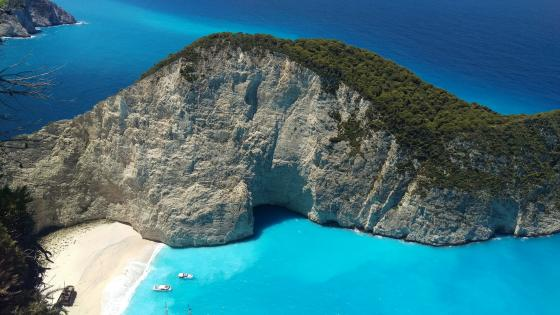 Navagio Bay in Zakynthos Island wallpaper