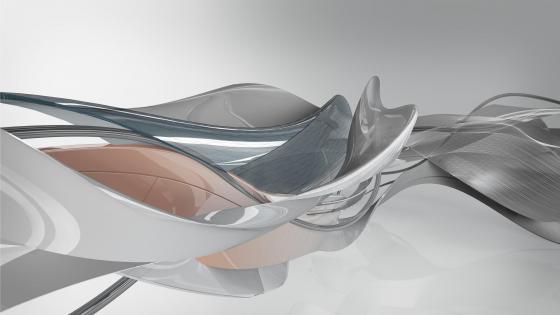 3D waves wallpaper