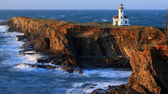 Cape Arago Lighthouse, Charleston, Oregon, United States wallpaper