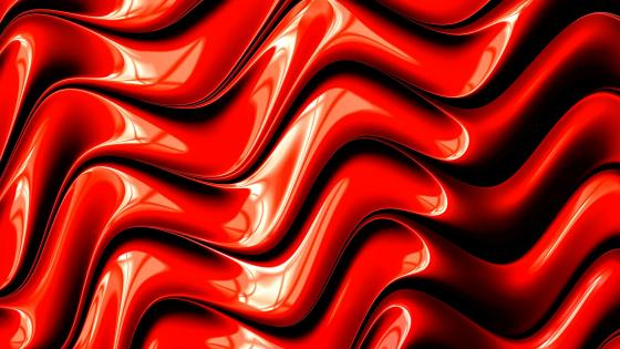 Cool red 3D graphic design wallpaper