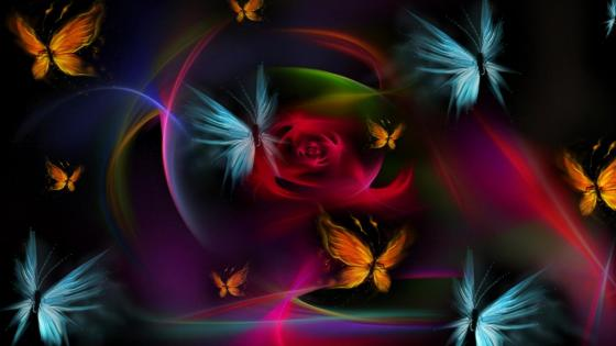 Butterflies - Digital art wallpaper