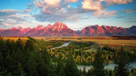 Grand Teton National Park, Snake River overlook wallpaper