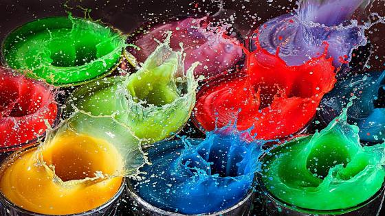 Colorful splash  wallpaper