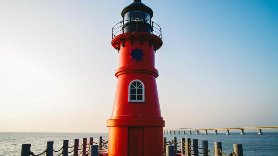 Red lighthouse wallpaper