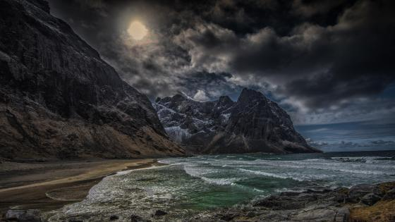 Twilight in Lofoten islands wallpaper