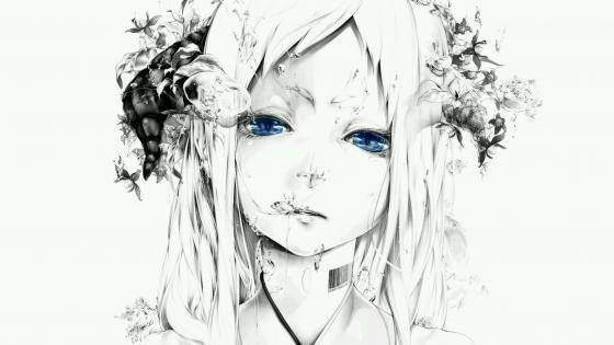 Black & white anime wallpaper wallpaper