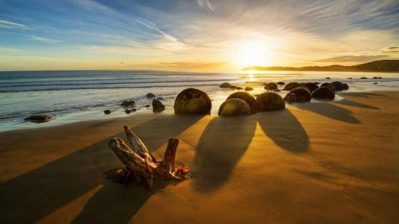 Moeraki Boulders - New Zealand wallpaper