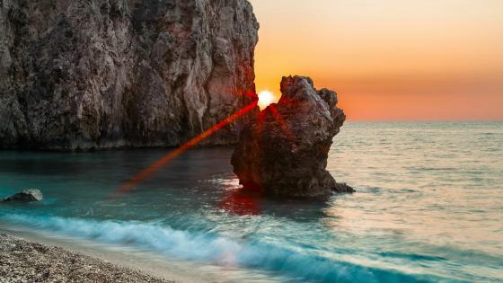 Lefkada Island baeach, Greece wallpaper
