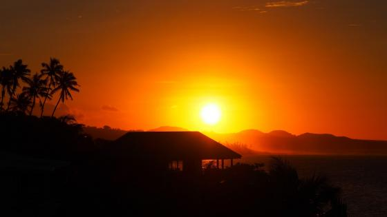 Sunset at Samoan Islands wallpaper