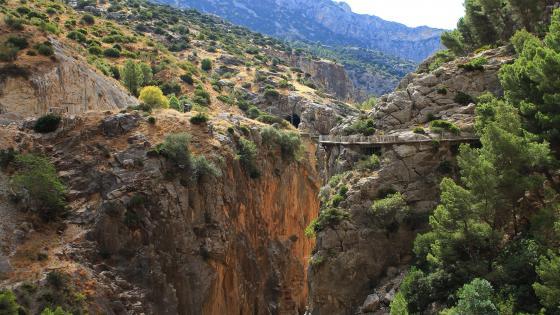 El Caminito del Rey path - Malaga,Spain wallpaper