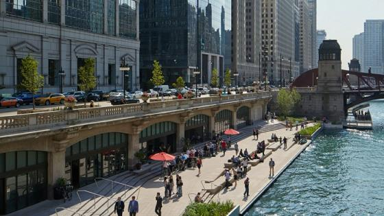 Chicago Riverwalk wallpaper