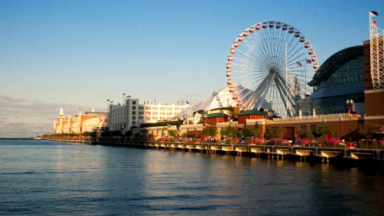 Navy Pier in Chicago wallpaper