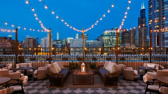 View from the Soho House Chicago wallpaper