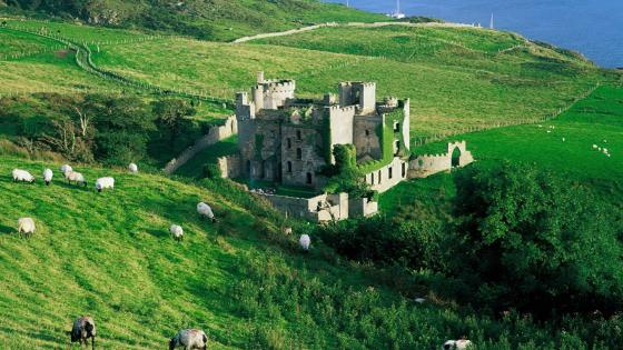 Clifden Castle, Ireland wallpaper