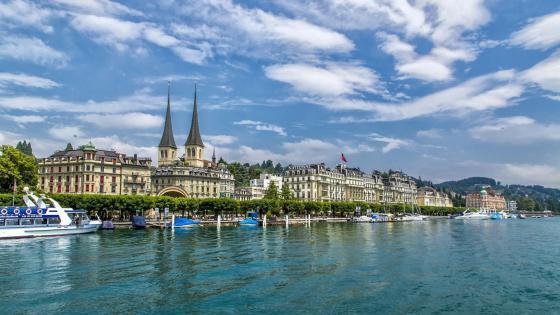 Lucerne cityscape, Switzerland wallpaper