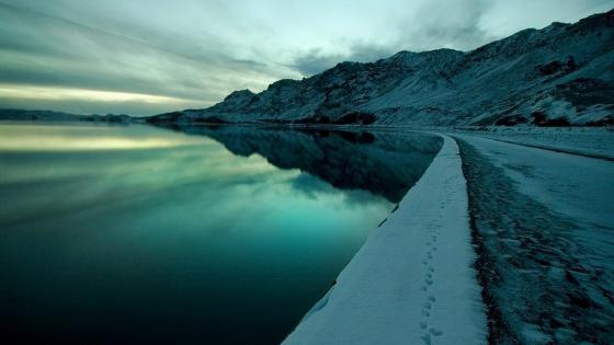 Bluish landscape wallpaper