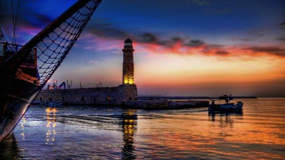 Lighthouse of Rethymno wallpaper
