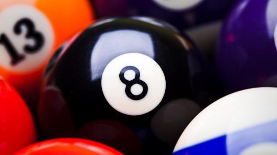 Billiard ball eight wallpaper