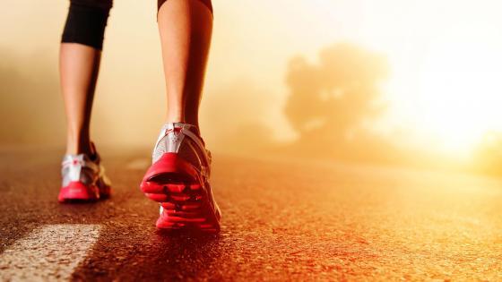 Running on the asphalt wallpaper