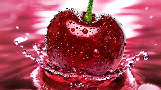 Cherry splash  wallpaper
