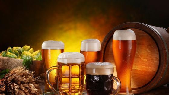 Lager beers and dark beer wallpaper