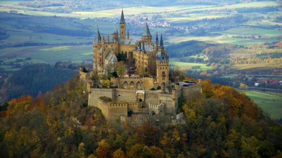 Hohenzollern Castle (Burg Hohenzollern), Germany - Aerial photography wallpaper