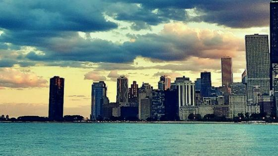 Chicago city view from the Lake Michigan wallpaper