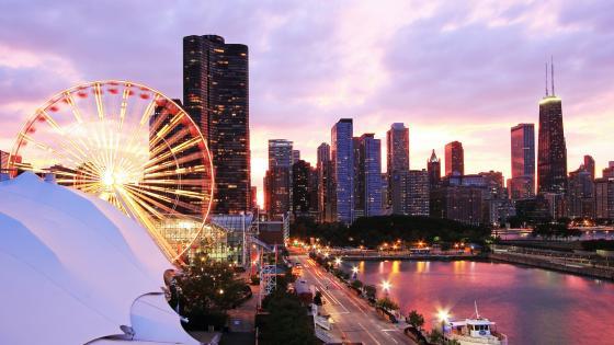 Centennial Wheel in Chicago wallpaper