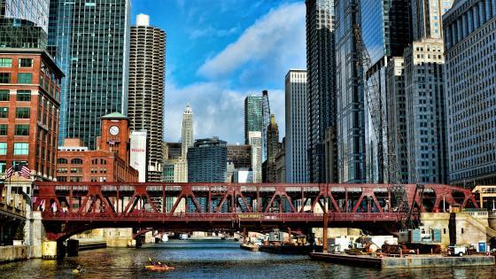 Chicago building wallpaper