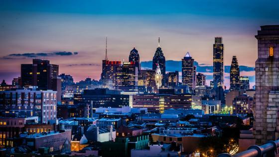 Philadelphia in the dusk - Pennsylvania, United States wallpaper