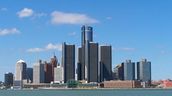 Detroit cityscape wallpaper