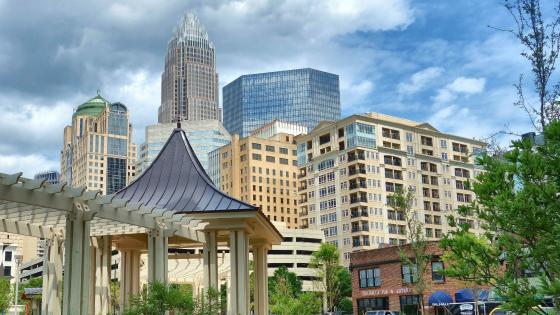 Charlotte cityscape - North Carolina, USA wallpaper