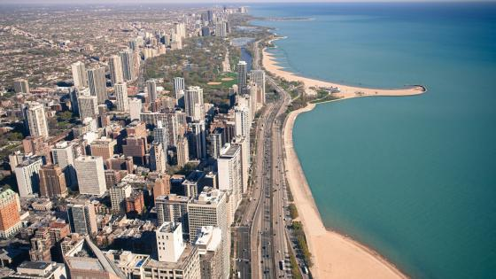 Chicago coastline wallpaper